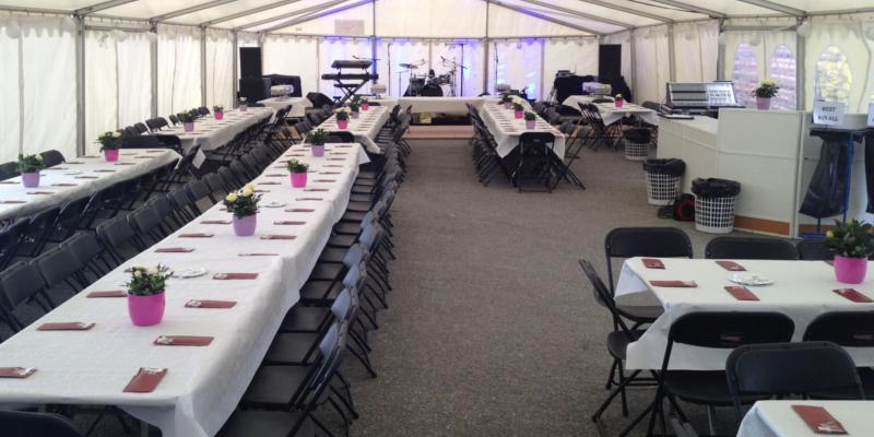 bord og telt